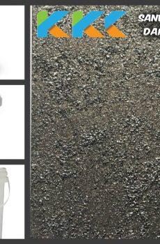 Jual Cat Tekstur | Sand Texture Dark Silver Color