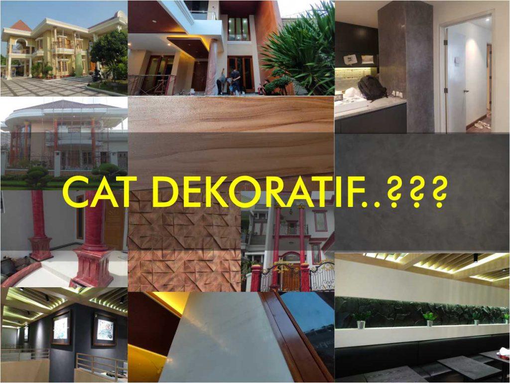 apa itu cat dekoratif