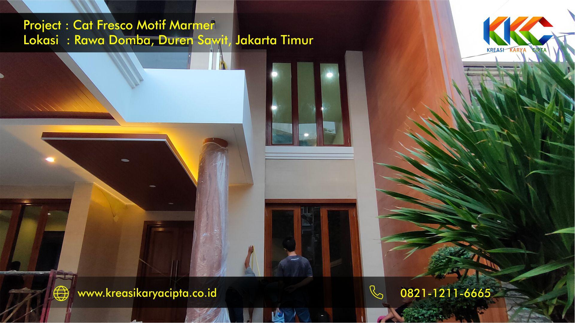 Project Pengecatan Fresco Motif Marmer Jakarta Timur | Jasa Pengecatan Dekoratif Motif Marmer Jakarta 2020