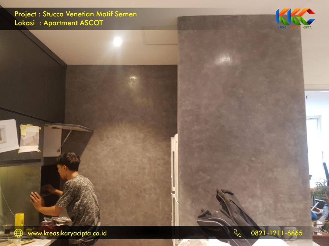 stucco venetian motif semen industrial apartment ascot 2