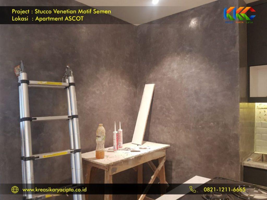 stucco venetian motif semen industrial apartment ascot 3