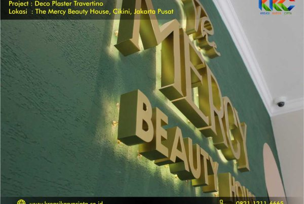 Deco Plaster Motif Travertino The Mercy Beauty House Cikini Jakarta Pusat 1