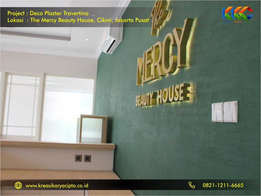 Deco Plaster Motif Travertino The Mercy Beauty House Cikini Jakarta Pusat 3