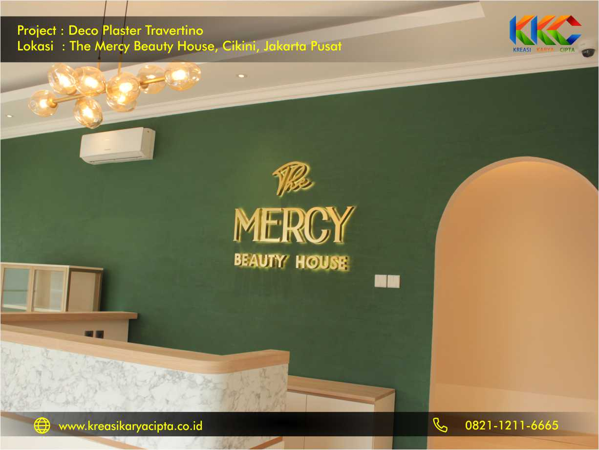 Deco Plaster Motif Travertino The Mercy Beauty House Cikini Jakarta Pusat 4