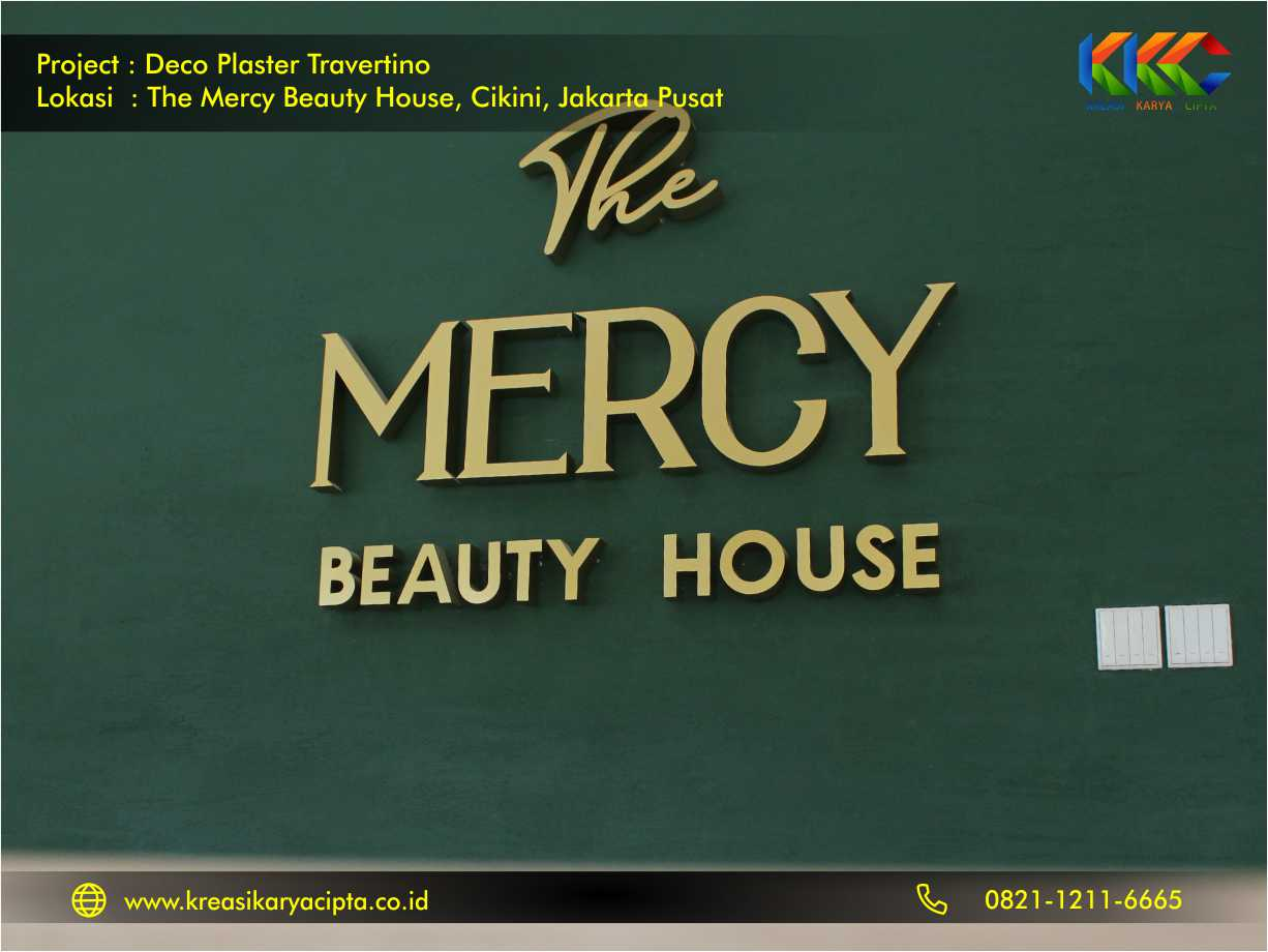 Deco Plaster Motif Travertino The Mercy Beauty House Cikini Jakarta Pusat 5