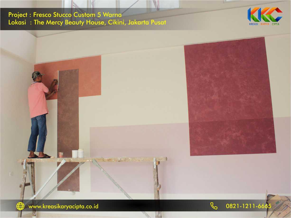 Fresco stucco custom 5 warna Cikini Jakarta Pusat 1
