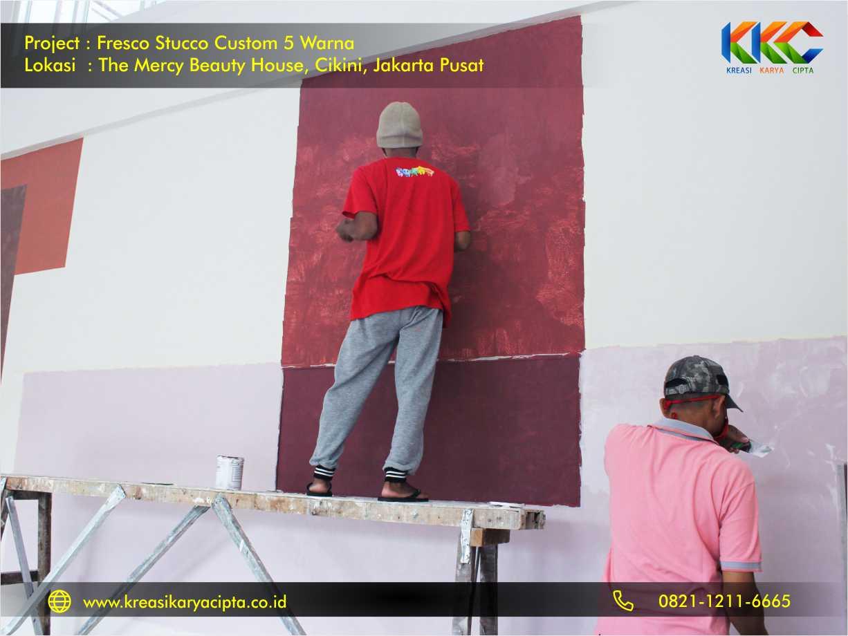 Fresco stucco custom 5 warna Cikini Jakarta Pusat 2