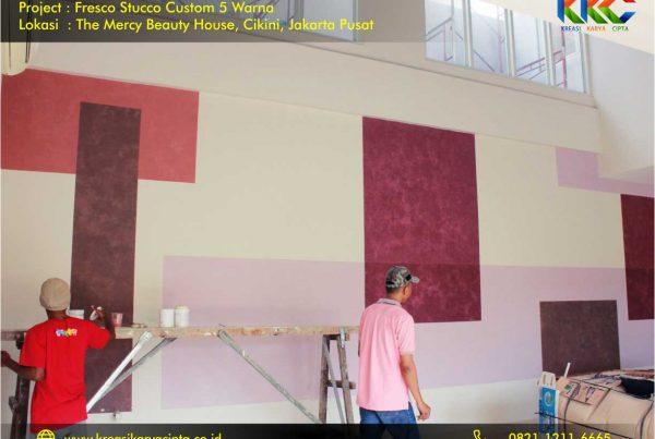 Fresco stucco custom 5 warna Cikini Jakarta Pusat 5