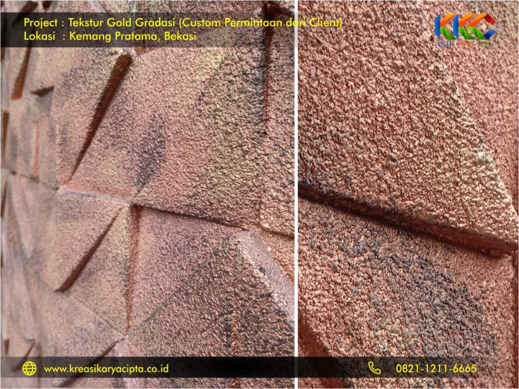project cat Tekstur Gold Gradasi Kemang Pratama Bekasi 1