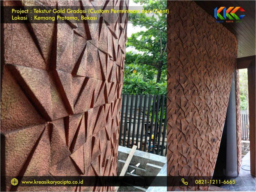 Project cat Tekstur Gold Gradasi Kemang Pratama Bekasi