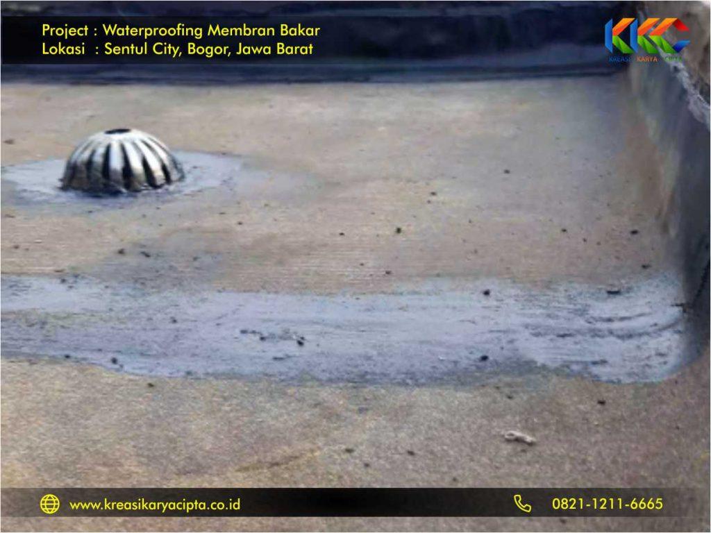 Waterprofing membran bakar perumahan sentul city 3
