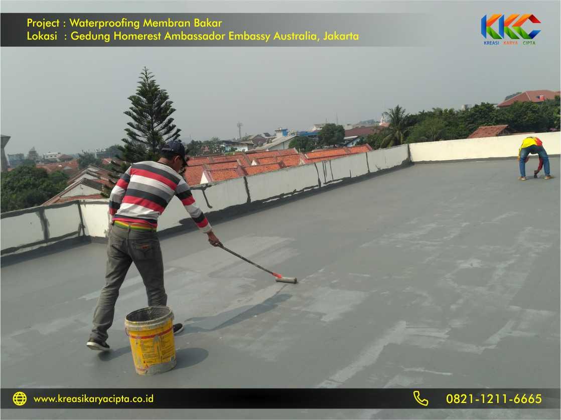 Waterproofing Membran Bakar Gedung Embassy Australia Jakarta 1