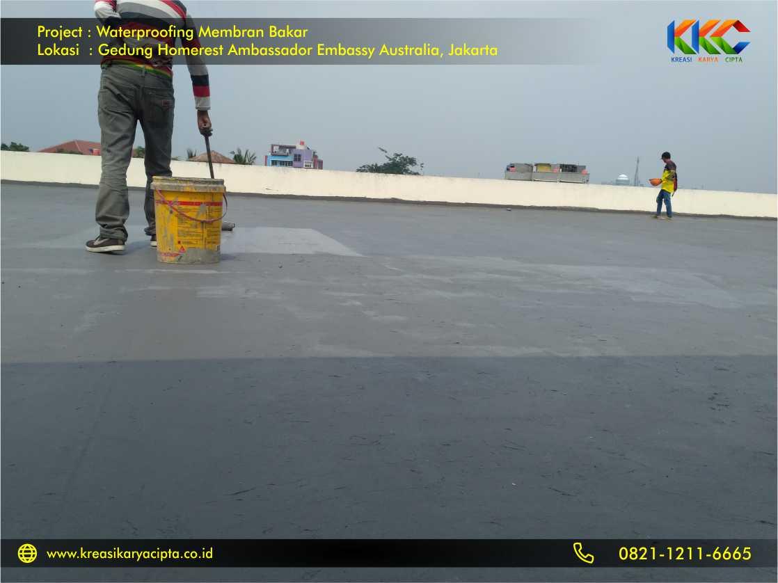 Waterproofing Membran Bakar Gedung Embassy Australia Jakarta 5