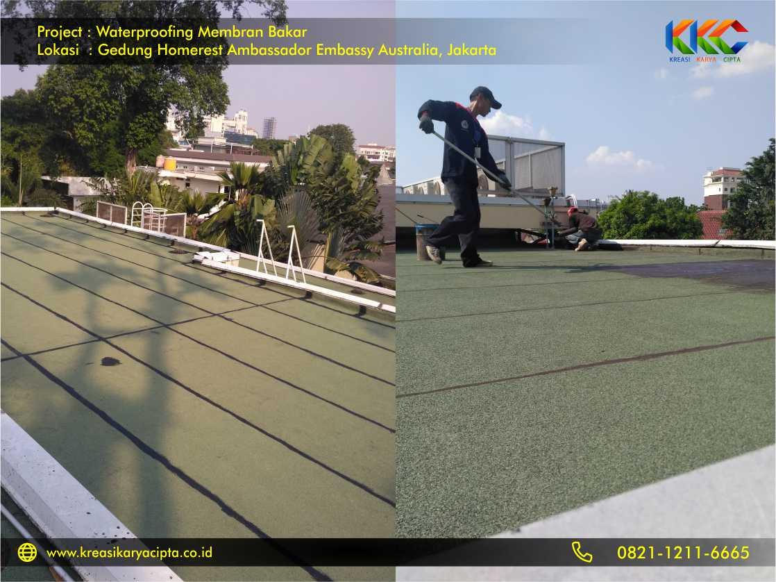 Waterproofing Membran Bakar Gedung Embassy Australia Jakarta 6