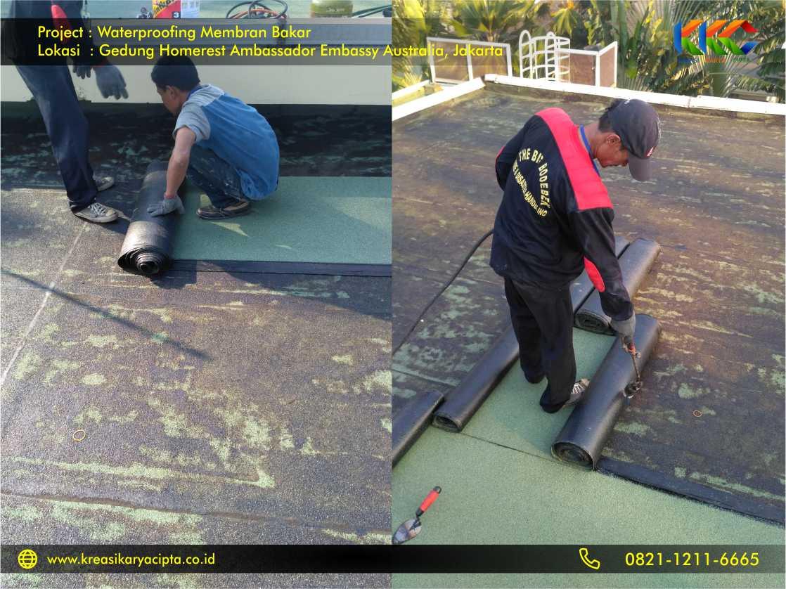 Waterproofing Membran Bakar Gedung Embassy Australia Jakarta 7