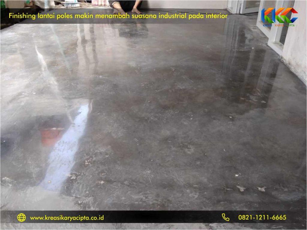 lantai semen ekspos finishing interior