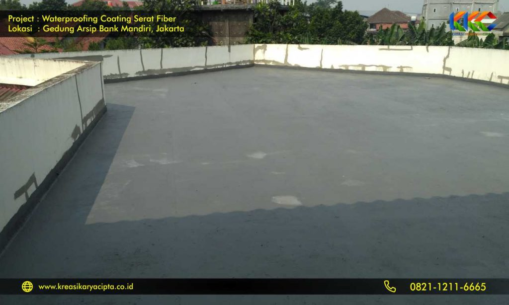 waterproofing coating serat fiber gedung arsip bank mandiri 2