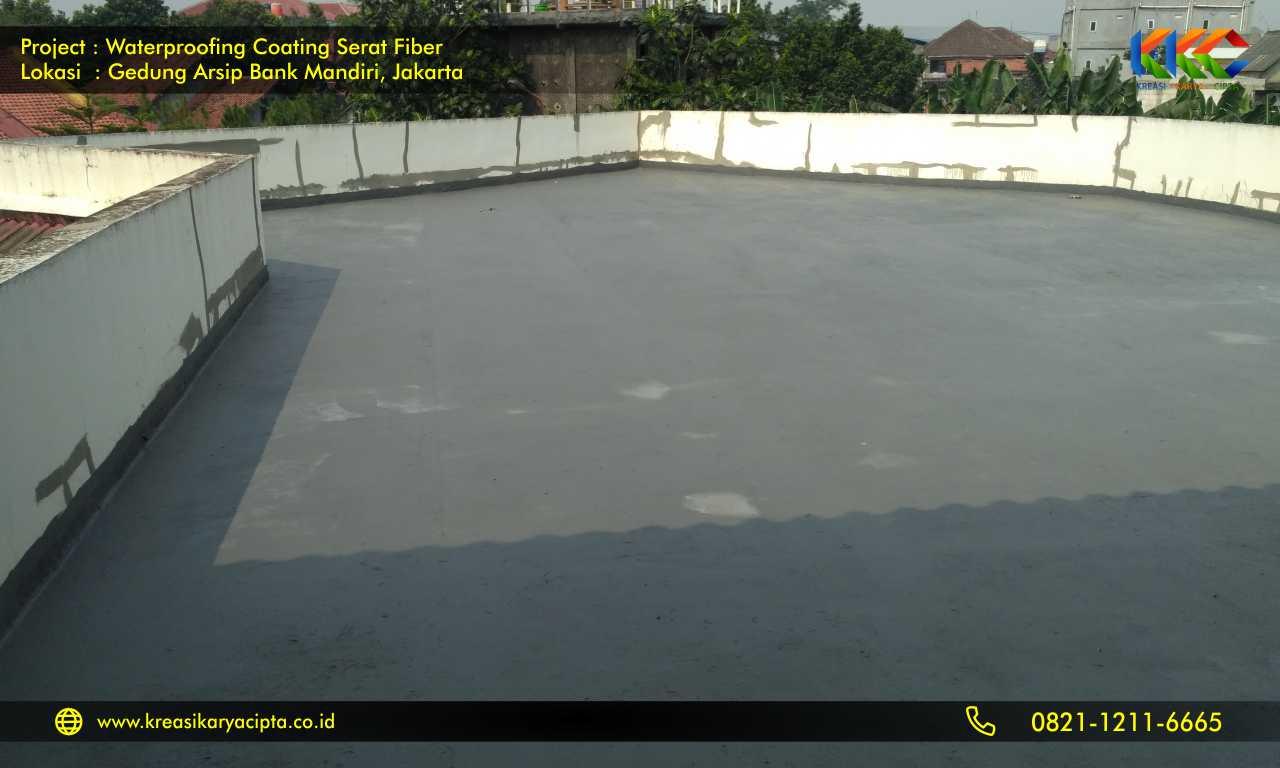 waterproofing coating serat fiber gedung arsip bank mandiri 2
