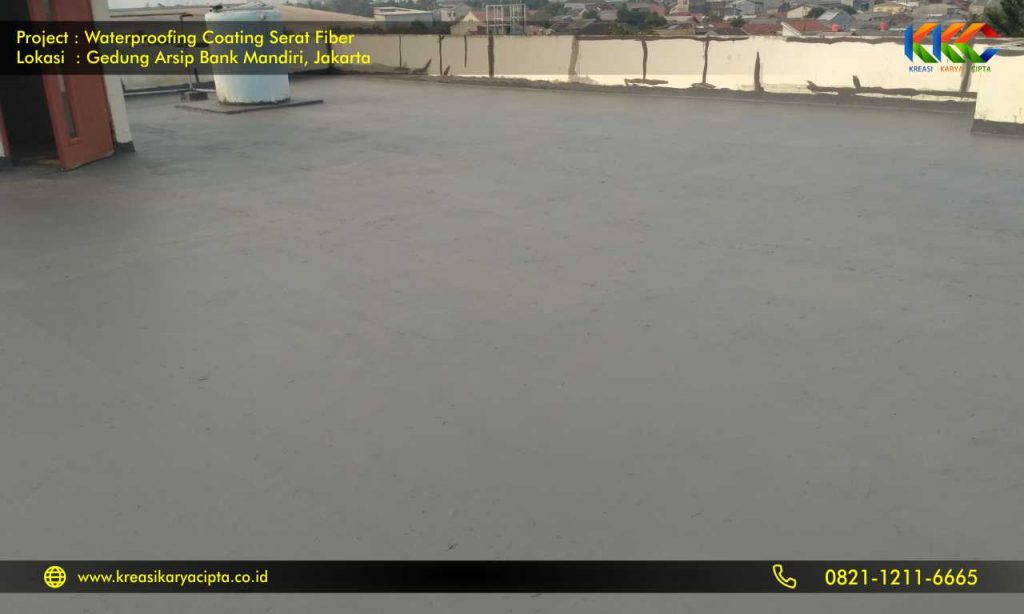 waterproofing coating serat fiber gedung arsip bank mandiri 4