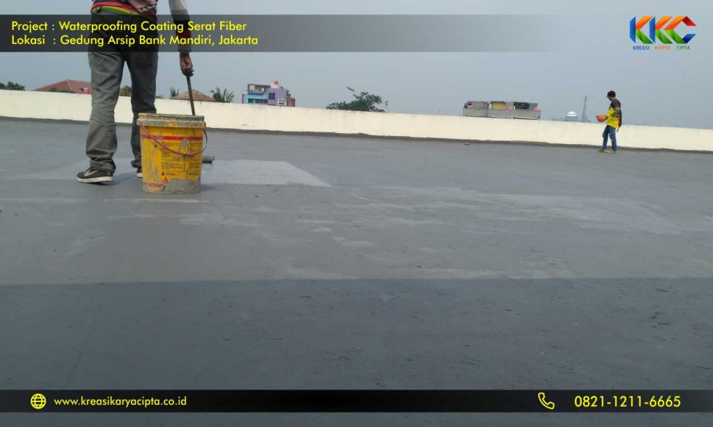 waterproofing coating serat fiber gedung arsip bank mandiri 5