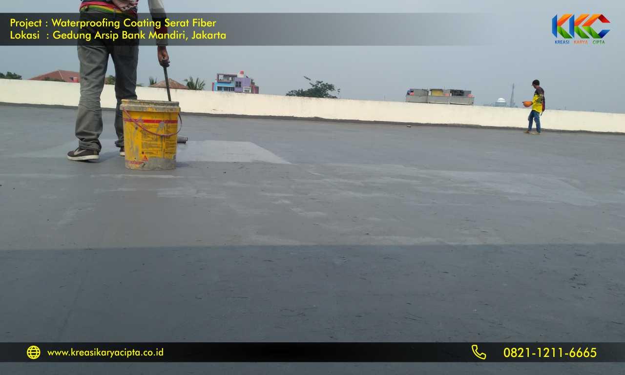 waterproofing coating serat fiber gedung arsip bank mandiri 5