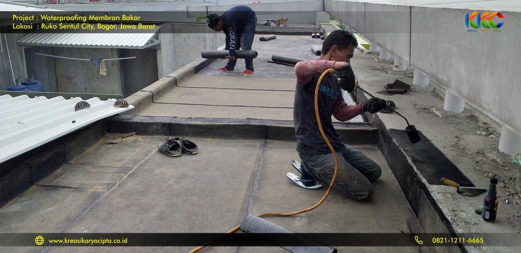 waterproofing membran bakar ruko sentul city 1
