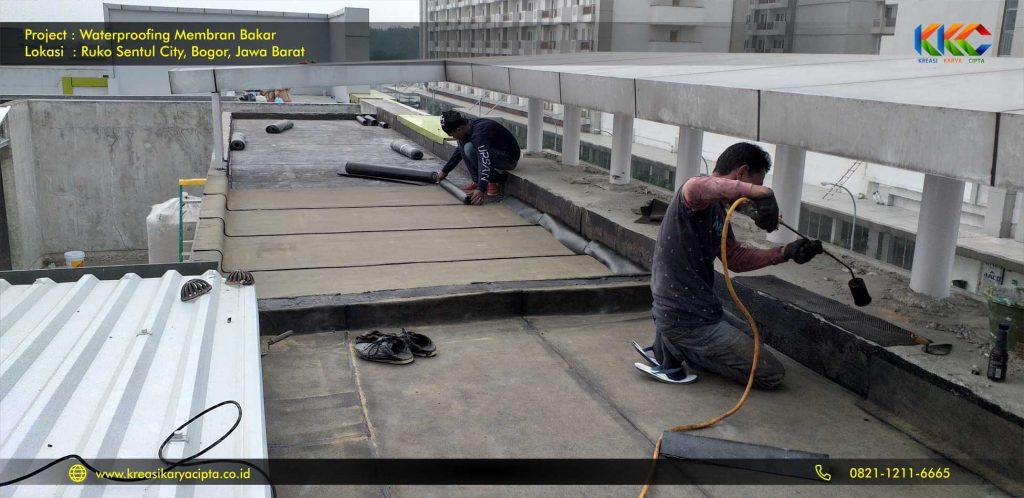 waterproofing membran bakar ruko sentul city 3