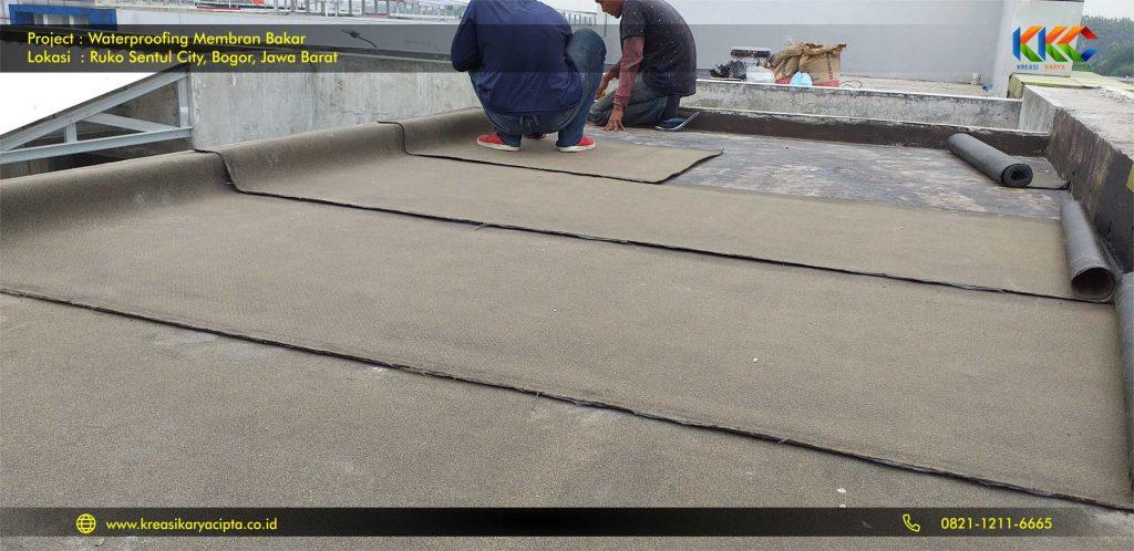 waterproofing membran bakar ruko sentul city 8